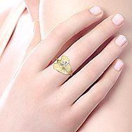 14k Yellow Gold Souviens Fashion Ladies' Ring angle 5