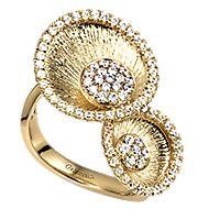 14k Yellow Gold Souviens Fashion Ladies' Ring angle 3