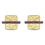 14k Yellow Gold Souviens Stud Earrings angle 1
