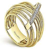 14k Yellow Gold Souviens Twisted Ladies' Ring