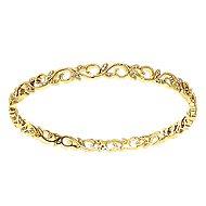 14k Yellow Gold Stackable Bangle angle 1