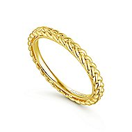 14k Yellow Gold Stackable Eternity Stackable Ladies' Ring angle 3