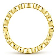 14k Yellow Gold Stackable Eternity Stackable Ladies' Ring
