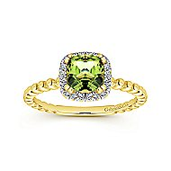 14k Yellow Gold Stackable Fashion Ladies' Ring angle 4