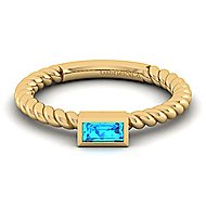 14k Yellow Gold Stackable Ladies' Ring angle 1