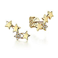 14k Yellow Gold Starlis Stud Earrings angle 1