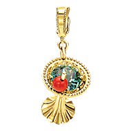 14k Yellow Gold Treasure Chests Charm Pendant