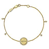 14k Yellow Gold Trends Chain Bracelet angle 2