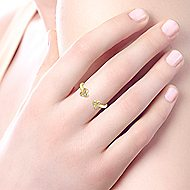 14k Yellow Gold Trends Fashion Ladies' Ring angle 5