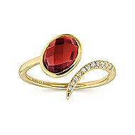 14k Yellow Gold Trends Fashion Ladies' Ring angle 4
