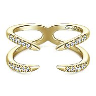 14k Yellow Gold Trends Fashion Ladies' Ring angle 1