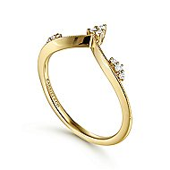 14k Yellow Gold Victorian Fashion Ladies' Ring angle 3