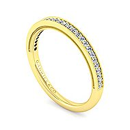 14k Yellow Gold Victorian Straight Wedding Band angle 3