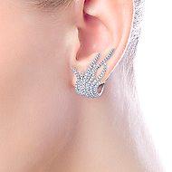18K White Gold 25MM Fashion Earrings