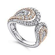 18K White-Rose Gold  Fashion Ladies' Ring