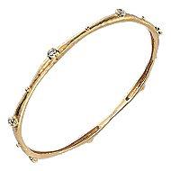 18K Yellow Gold Diamond Bangle