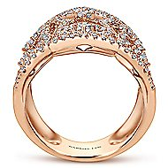 18k Rose Gold Allure Statement Ladies' Ring angle 2