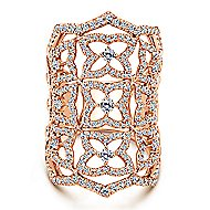 18k Rose Gold Lusso Statement Ladies' Ring