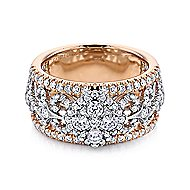 18k White And Rose Gold Allure Wide Band Ladies' Ring angle 1