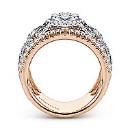 18k White And Rose Gold Mediterranean Wide Band Ladies' Ring angle 2