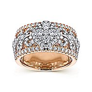 18k White And Rose Gold Mediterranean Wide Band Ladies' Ring angle 4