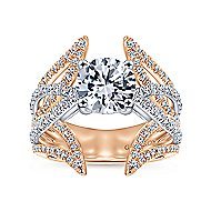 18k White And Rose Gold Round Split Shank Engagement Ring angle 5