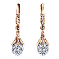 18k White And Rose Gold Silk Drop Earrings angle 1