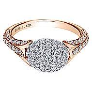 18k White And Rose Gold Silk Fashion Ladies' Ring
