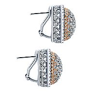 18k White And Rose Gold Silk Stud Earrings angle 3