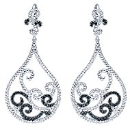 18k White Gold Allure Drop Earrings angle 1