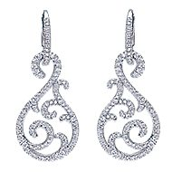 18k White Gold Allure Drop Earrings angle 1