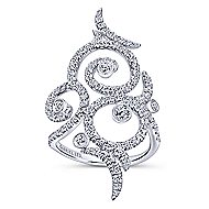 18k White Gold Allure Fashion Ladies' Ring angle 4