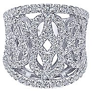 18k White Gold Allure Fashion Ladies' Ring angle 1
