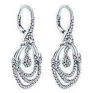 18k White Gold Amavida Fashion Drop Earrings angle 2