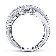 18k White Gold Art Moderne Fashion Ladies' Ring angle 2
