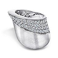 18k White Gold Contempo Fashion Ladies' Ring angle 1