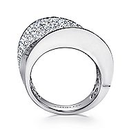 18k White Gold Contempo Fashion Ladies' Ring angle 2