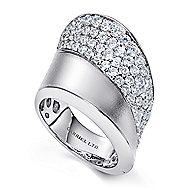 18k White Gold Contempo Fashion Ladies' Ring angle 3