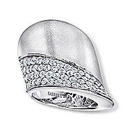 18k White Gold Contempo Fashion Ladies' Ring angle 4