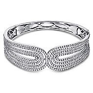 18k White Gold Contemporary Bangle angle 1