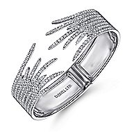 18k White Gold Contemporary Bangle angle 2