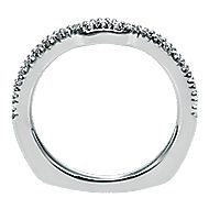 18k White Gold Contemporary Curved Wedding Band angle 2