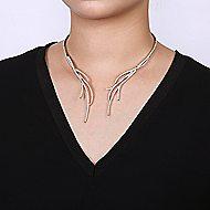 18k White Gold Contemporary Diamond Choker Necklace