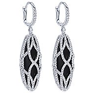 18k White Gold Contemporary Drop Earrings