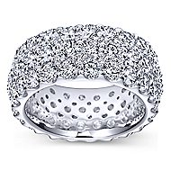 18k White Gold Contemporary Eternity Anniversary Band angle 5