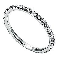 18k White Gold Contemporary Eternity Anniversary Band angle 3
