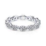 18k White Gold Contemporary Eternity Wedding Band angle 1