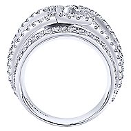 18k White Gold Contemporary Fashion Ladies' Ring angle 2