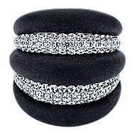 18k White Gold Contemporary Fashion Ladies' Ring
