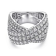 18k White Gold Contemporary Wide_band Ladies' Ring angle 1